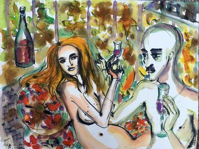 Norma de Saint Picman, 'Le verre du vin', 2004