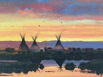 Nicholas Coleman, 'Spring Camp at Dusk'