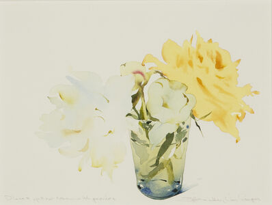 Susan Headley Van Campen, 'Diane's Yellow Rose with Peonies', 2020