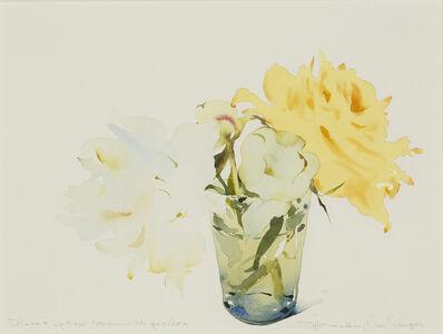 Susan Headley Van Campen, 'Diane's Yellow Rose with Peonies', 2020