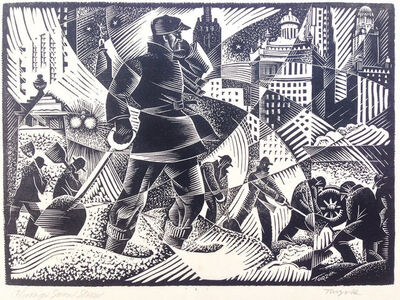 Charles Turzak, 'Chicago Snow Storm (Work Relief)', ca. 1935