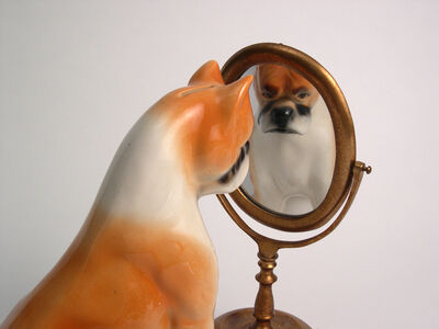 Liliana Porter, 'Dog/Mirror', 2006
