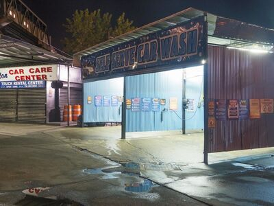 Lee Backer, 'Carwash, Brooklyn'