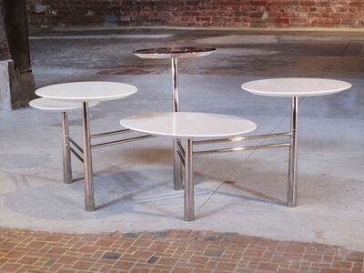 Nada Debs, 'Pebble Table - 5-leg chrome and lacquer'