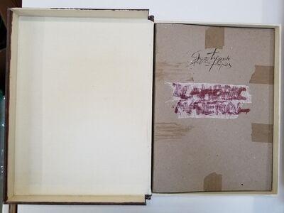 Antoni Tàpies, 'SIGNED Shuzo Takiguchi and Antoni Tapies Llambrec Material PORTFOLIO original', 1975