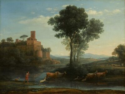 Claude Lorrain, 'Landscape with the Voyage of Jacob', 1677