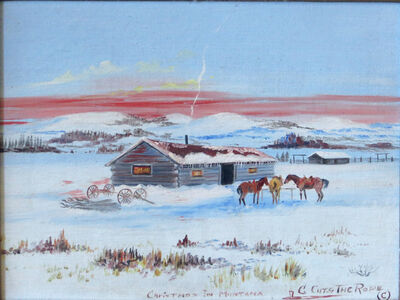 Clarence Cuts The Rope, 'Christmas in Montana', ca. 1970