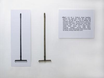 Joseph Kosuth, 'One and three Rakes', 1965
