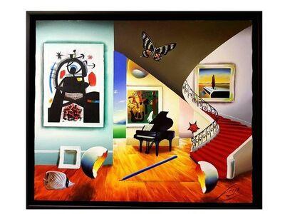 """Ferjo, 'Oil on Canvas """"Surrealist Interior"""" by Ferjo'"""