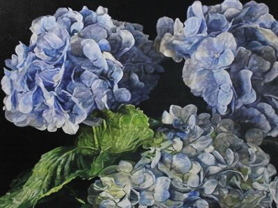 robert lemay, 'Blue Hydrangeas II', 2019