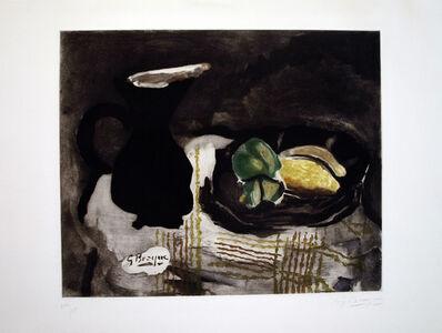Georges Braque, 'Pichet noir et citrons', 1955
