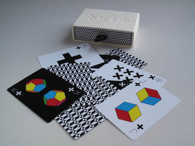 Tauba Auerbach, 'One Deck of Cards, Functions (white deck)', 2009