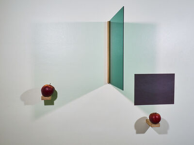 Páll Haukur Björnsson, 'a prayer with two apples (green, black, red)', 2017