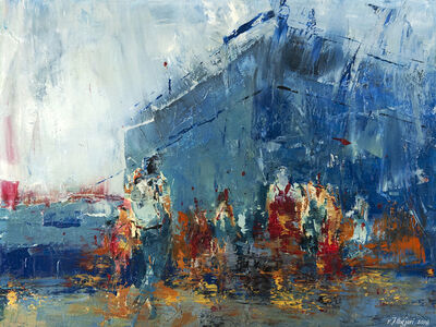 kllogjeri Fotis, 'travelers in line', 2019