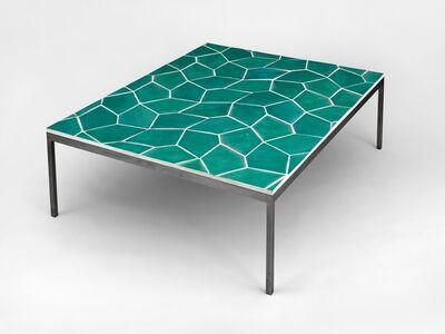 Sarah Crowner, 'Table (Terracotta Pentagon Leaves, Celadon)', 2016
