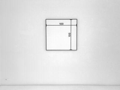 Timm Ulrichs, ' BILD MIT MAßLINIEN /  IMAGE WITH MEASUREMENTS', 1964