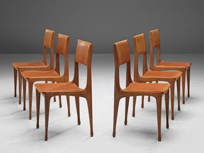 Carlo de Carli, 'Set of Walnut Dining Chairs Model '693'', 1958