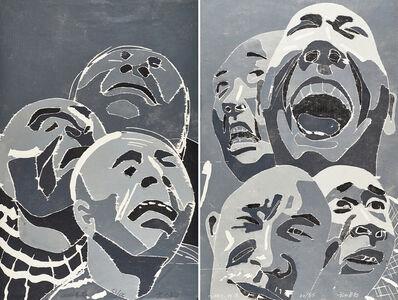 Fang Lijun, 'Two works of art: Untitled, 2002.12.9'