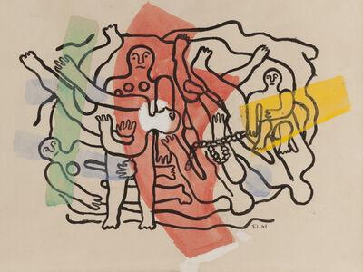 Fernand Léger, 'Les six plongeurs, composition en largeur', 1941