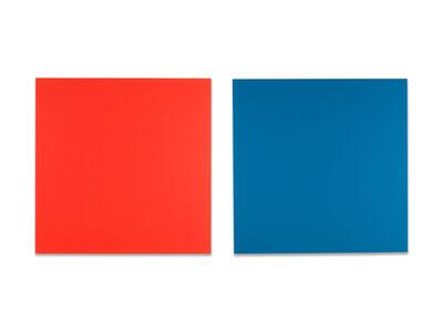 Claude Tousignant, 'Double écran chromatique en rouge et bleu (diptych)', 1988