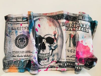 GHOST ART, 'Money Skull Crumbled', 2019