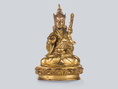 Bronze Sculpture, 'A Gilt Bronze Figure of Padmasambhava, Tibet 17th Century, 16 cm.'