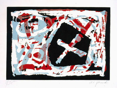 "A.R. Penck, 'untitled (from the portfolio ""Für die Pinakothek der Moderne"")', 1995"