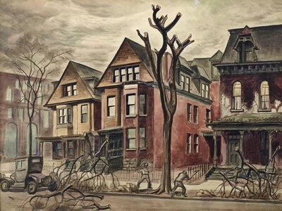 Charles Ephraim Burchfield, 'Civic Improvement', 1927-1928
