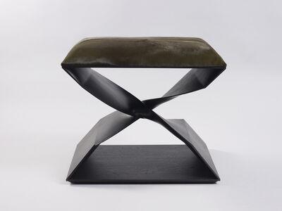 Carol Egan, ''Sculptural Twist' Stool (Ebonized Sapele)', 2012