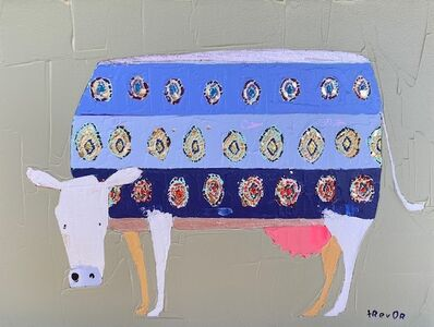 Trevor Mikula, 'Nearly Ikat Cow', 2021