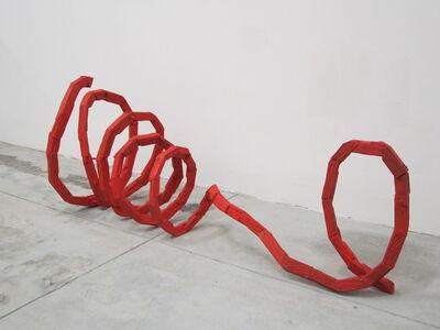 Hirofumi Maeshiba, 'Red Rasen', 2003