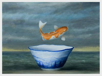 David Kroll, 'Koi and Mountain Vase', 2019