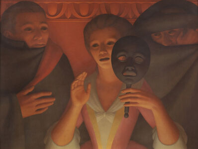 George Tooker, 'Un Ballo in Maschera', 1982