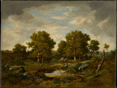 Narcisse-Virgile Diaz de la Peña, 'The Two Great Oaks', 1854