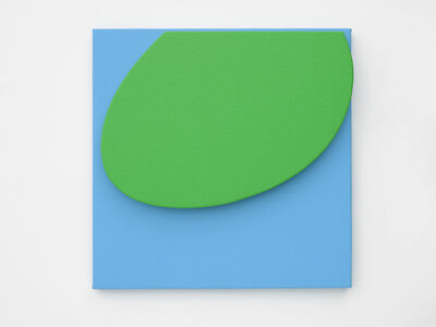 Gavin Turk, 'Small Green on Blue', 2019