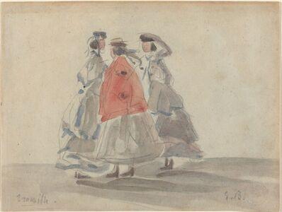 Eugène Boudin, 'Three Women at Trouville', ca. 1865