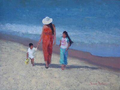 Donna Dickson, 'Sunday at the Beach'