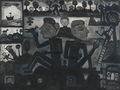 Madhvi Parekh, 'Two brothers', 1996