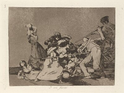 Francisco de Goya, 'Y son fieras (And They Are Like Wild Beasts)', published 1863