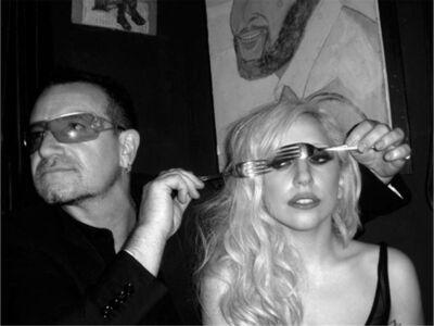 Mick Rock, 'Bono and Lady Gaga', ca. 2009