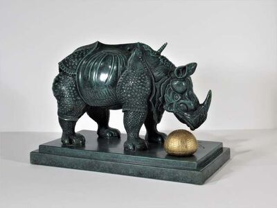 Salvador Dalí, ' Rhinoceros Habille En Dentelles', 1956
