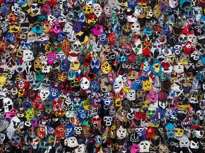 Liu Bolin, 'Mexican Wrestling Masks', 2015