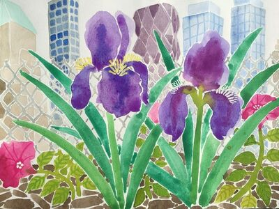 Amy Lincoln, 'Irises and Skyscrapers', 2016