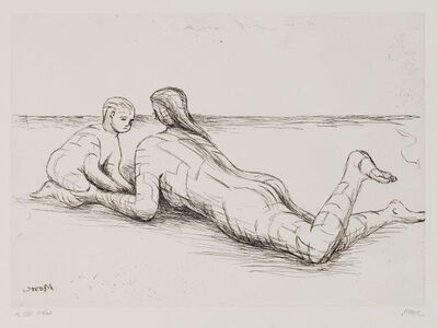 Henry Moore, 'Mother and Child XIX [Cramer 689]', 1983