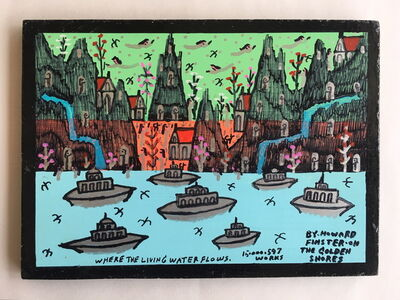 Howard Finster, 'Where The Living Water Flows', 1990