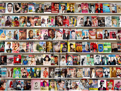 Liu Bolin, 'Hiding in London No. 4 - Magazine Rack', 2014