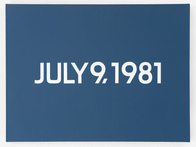 On Kawara, 'July 9, 1981', 1981