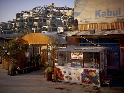 Simon Norfolk, 'Kabul 'Pizza Express' Restaurant Behind The Municipal Bus Depot ', 2010