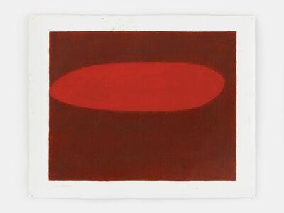 Suzan Frecon, 'horizontal vertical study (vermillion)', 2016