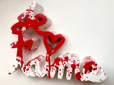 Mr. Brainwash, 'Je T'aime Splash Red', 2020